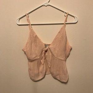 Tobi pink crop top